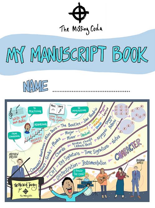 The Missing Coda Manuscript Book (A4)
