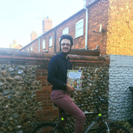 Biking to a students house