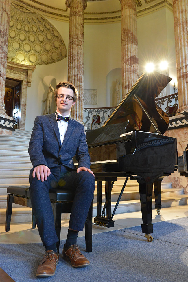 Matthew Preston at Holkham Hall before a Rachmaninoff Concert