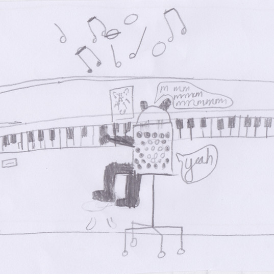 Piano Drawing #5 - Wells-next-the-Sea Primary School