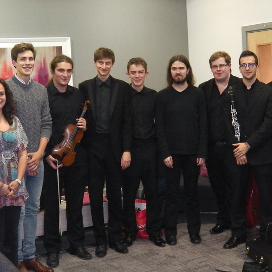 Matthew with the RNCM players