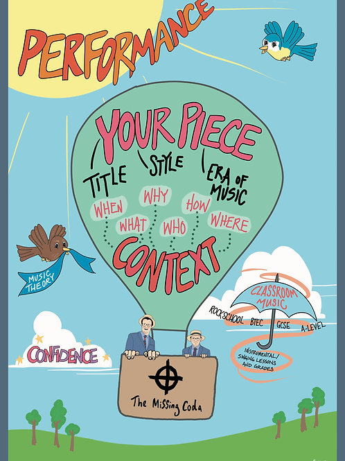 The Missing Coda Poster (A2) - Classroom Teaching Context Balloon #6
