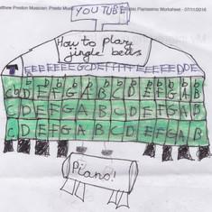 Piano Drawing #4 - Burnham Market Primary School