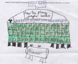 Piano Drawing #15 - Burnham Market Primary School