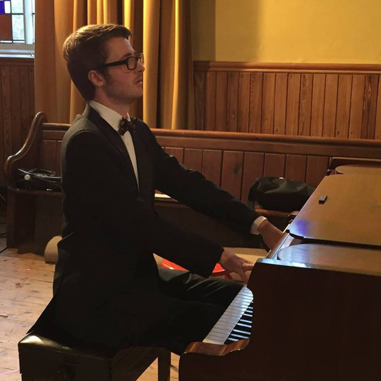Matthew playing at The Yorke Trust