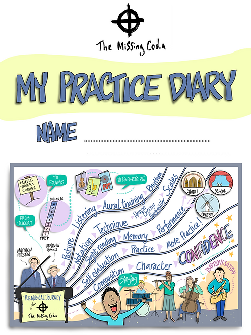 The Missing Coda Practice Diary (A5)