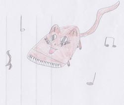 Piano Drawing #9 - Burnham Market Primary School