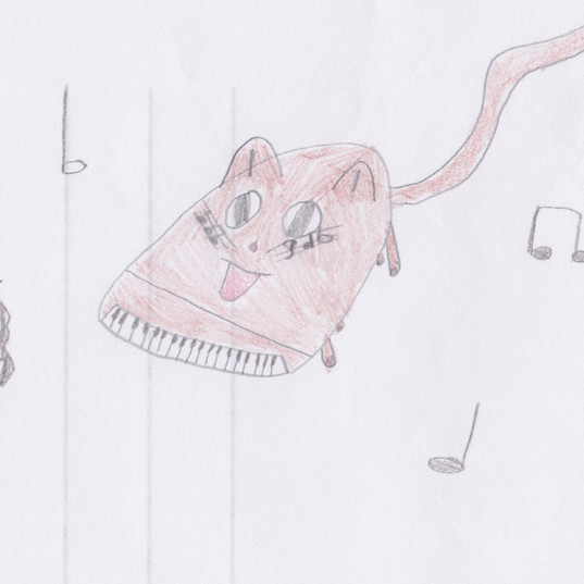 Piano Drawing #6 - Burnham Market Primary School