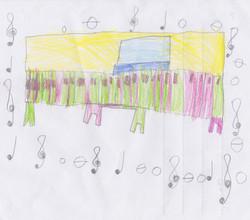 Piano Drawing #7 - Burnham Market Primary School