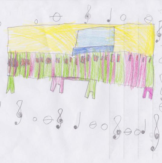 Piano Drawing #3 - Burnham Market Primary School