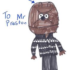 Preston the Dog Drawing