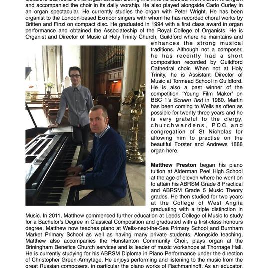 Eclogue Concert Biographies