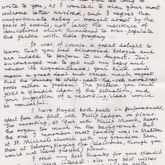 A letter from Francis Jackson