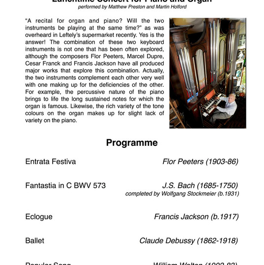 Eclogue Concert Programme
