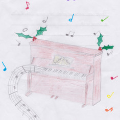 Piano Drawing #8 - Wells-next-the-Sea Primary School