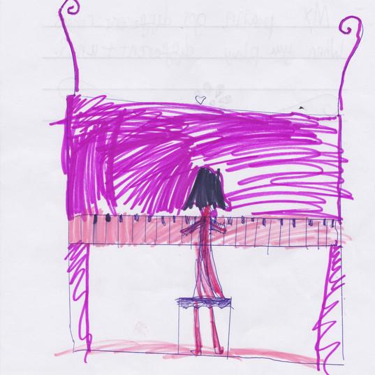 Piano Drawing #10 - Burnham Market Primary School
