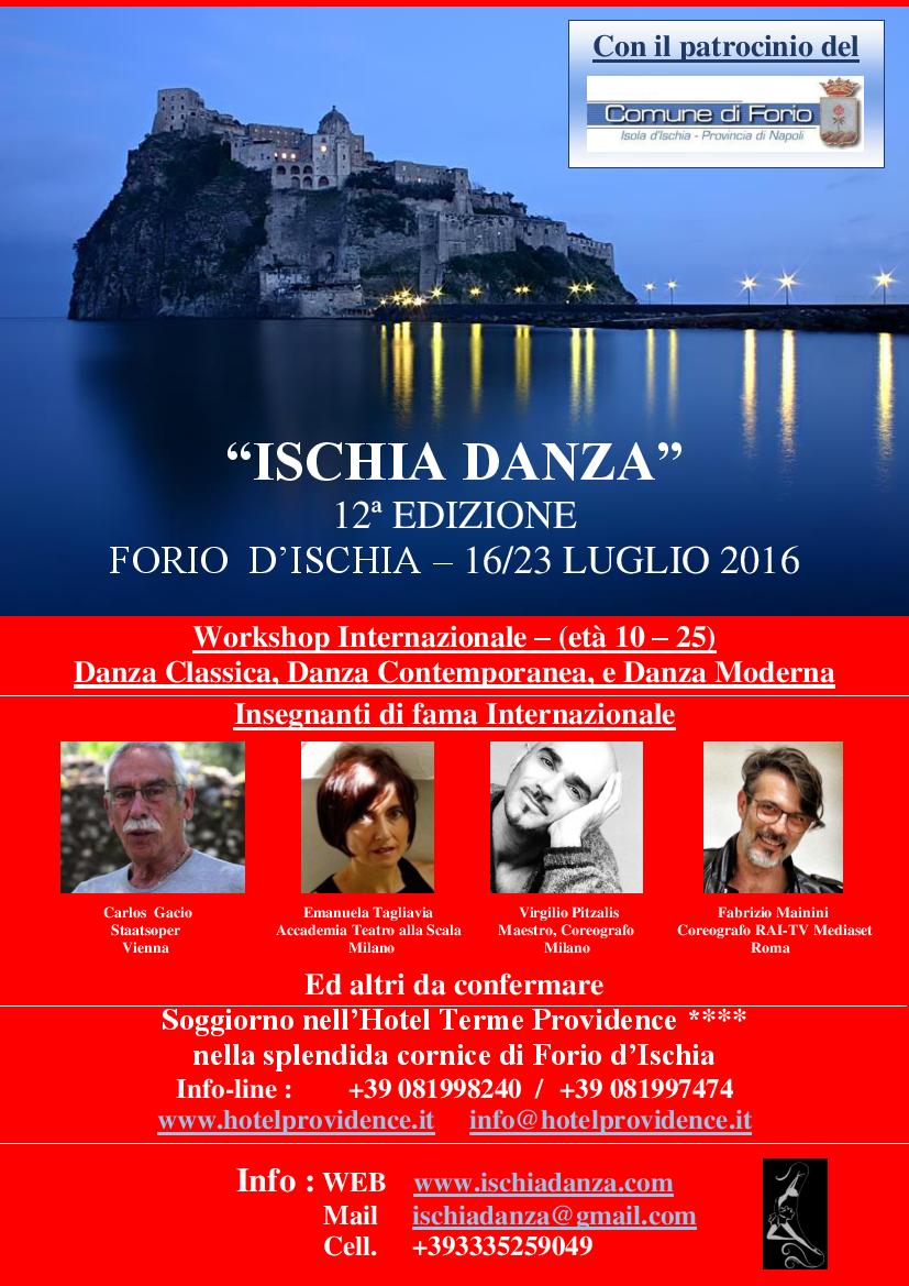 Locandina Ischia 2016 con insegnanti