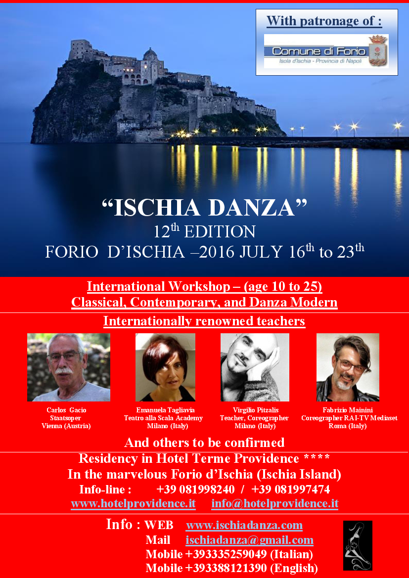 Locandina Ischia 2016 in INGLESE