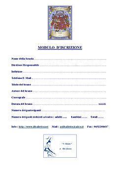 Scheda d'iscrizione Festival delle Favol