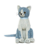 Blue Tabby Cat Door Stop