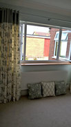 Eyelet curtains with contrast