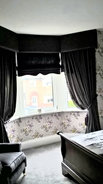 Traditional Pelmet and Roman Blinds