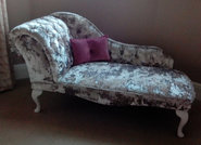 Chaise In Lux Champayne Fabric