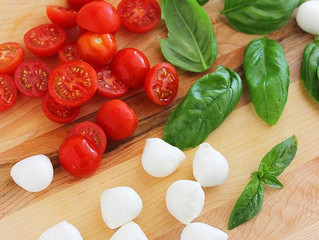 Marinated Mozzarella, Cherry Tomato, and Basil Salad Recipe
