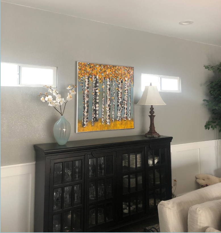 So happy to see my painting on buyer's wall!
