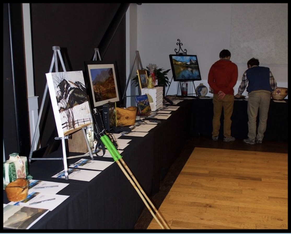 Fundraising event.  My painting is in the corner!