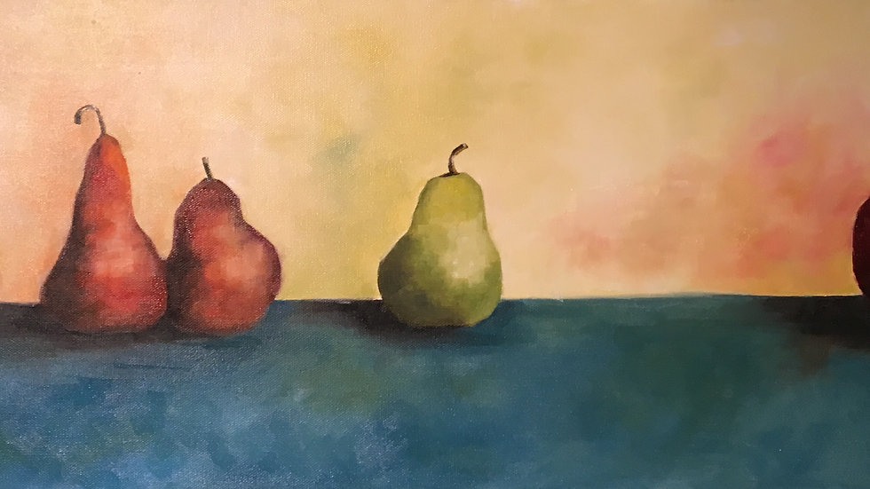 SALE 4 Pears and an Apple