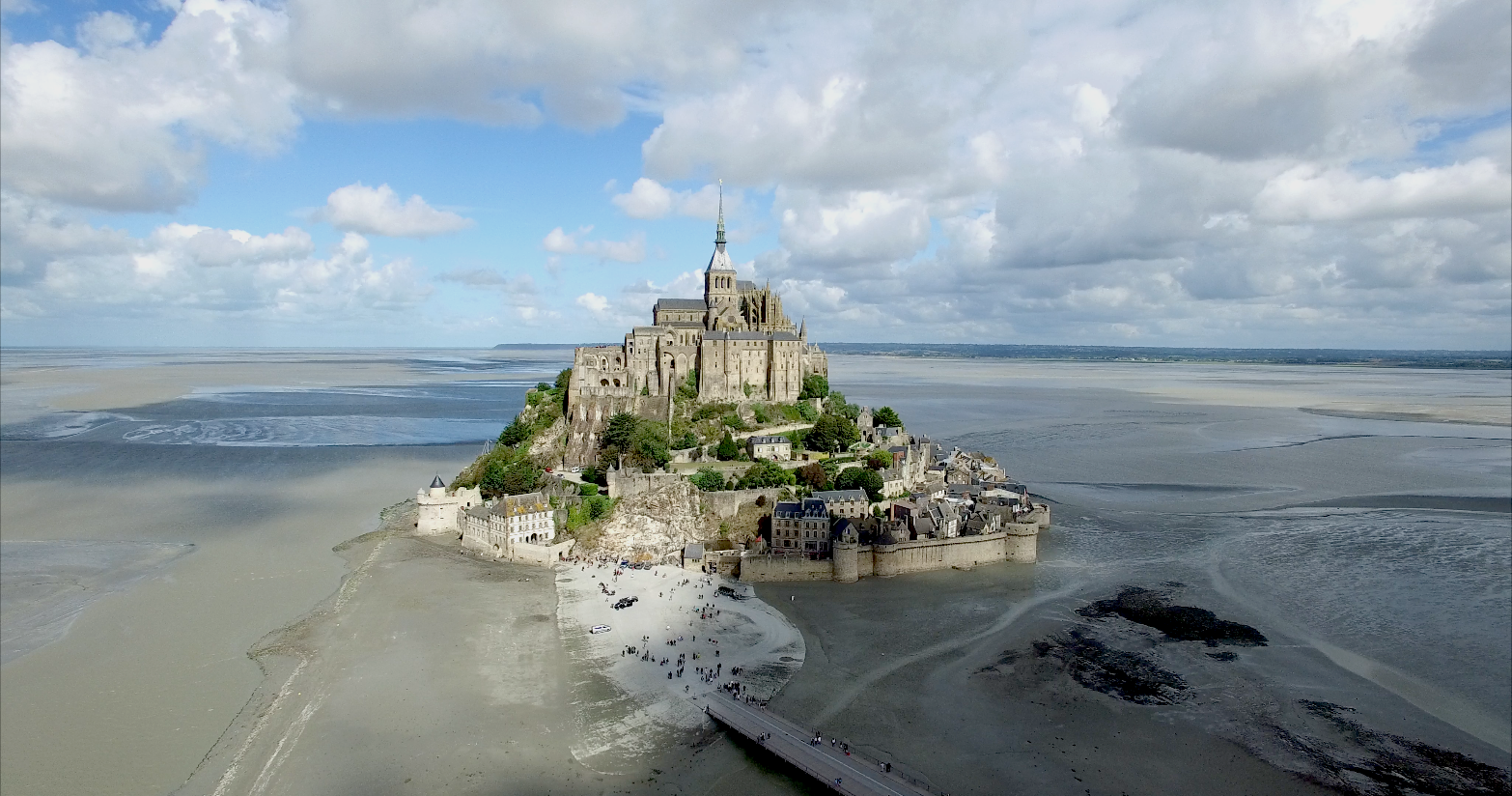 Mont Saint Michel Drone Normandie