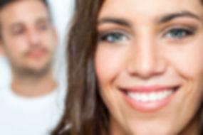 Close up Facial portrait of attractive g