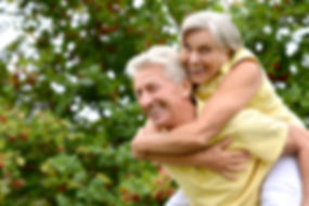 Portrait of a happy elder couple in the