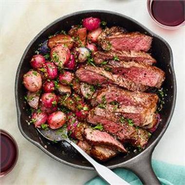 One-Pan Steak And Radishes