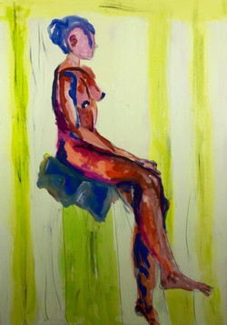 Nude study colored 2017