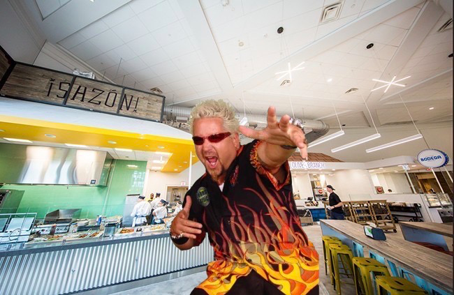Guy Fieri in Leo's