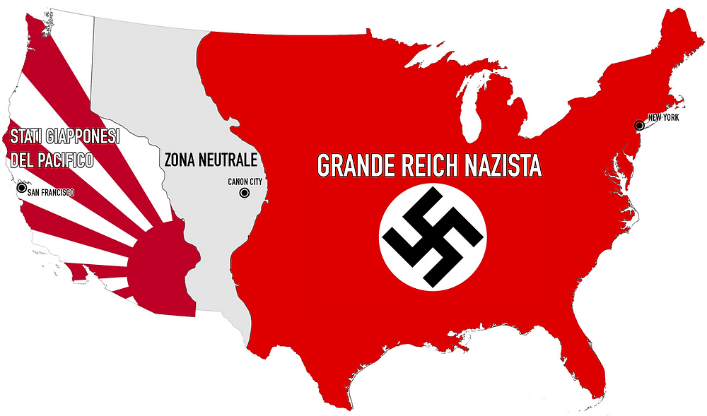 Territorial Map USA Man In the High Castle