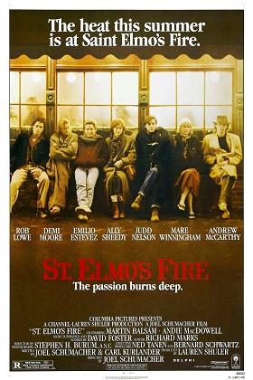 St. Elmo's Fire Cast Poster Georgetown