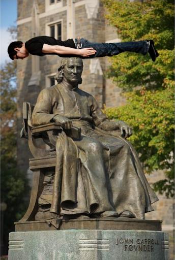 Planking on John Carroll