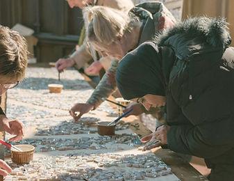 Creating a mosaic at Shine