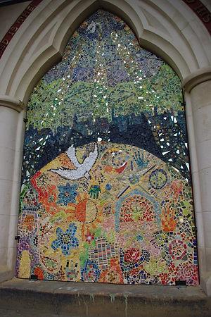 Mosaic by the community and Shaeron Caton Rose