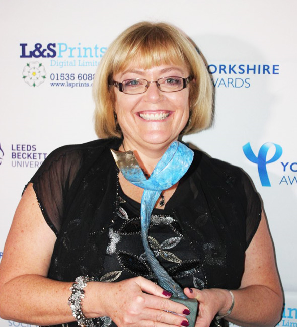 Sarah has won another award! And well deserved for all her work for SHINE! She won the Community Hero award at the Yorkshire awards not he 14th October