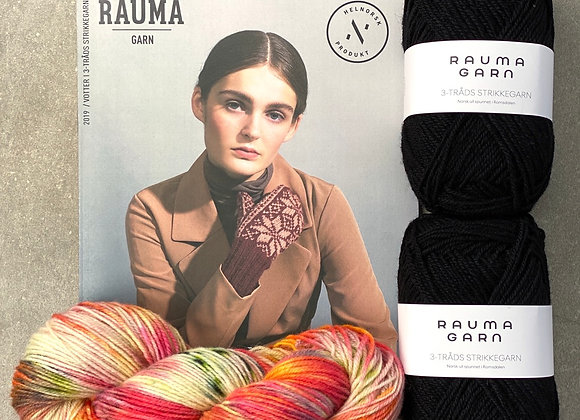Vottepakke i Rauma 3-tråds strikkegarn