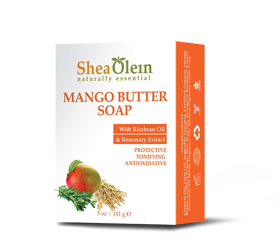 MANGO BUTTER SOAP WITH RICE BRAN OIL & ROSEMARY EXTRACT