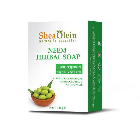 NEEM HERBAL SOAP WITH PEPPERMINT, SAGE & LEMON PEEL