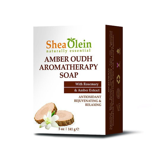 AMBER OUDH AROMATHERAPY SOAP WITH ROSEMARY & AMBER EXTRACT