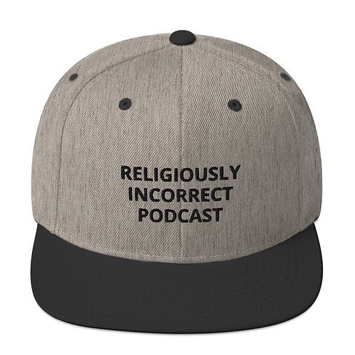Religiously Incorrect Podcast Snapback Heather/Black