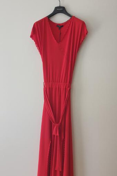 Robe fendue rouge TRICOT CHIC