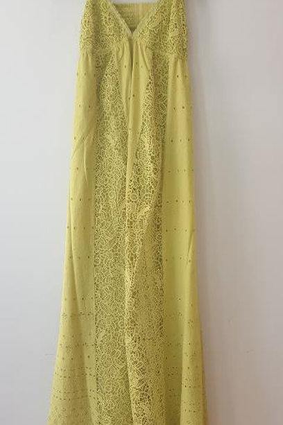 Robe longue vert anis PINKO